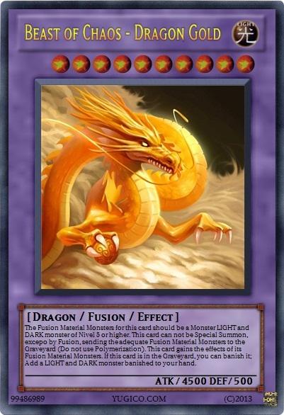 Beast Of Chaos Dragon Gold Yu Gi Oh Card Maker Wiki