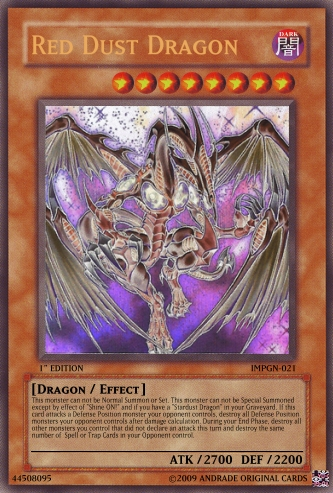 image red dust dragon png yu gi oh card maker wiki fandom