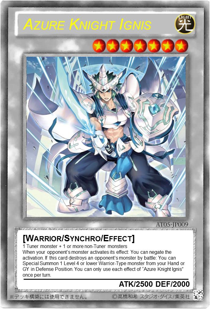 Azure Knight Ignis Yu Gi Oh Card Maker Wiki Fandom Powered By Wikia
