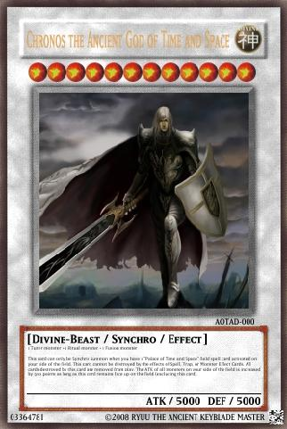 Chronos The Ancient God Of Time And Space Yu Gi Oh Card
