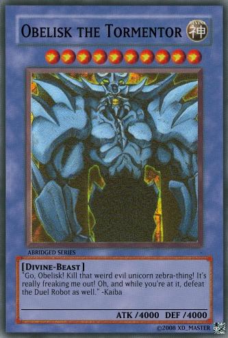 Obelisk The Abridged Tormentor Yu Gi Oh Card Maker
