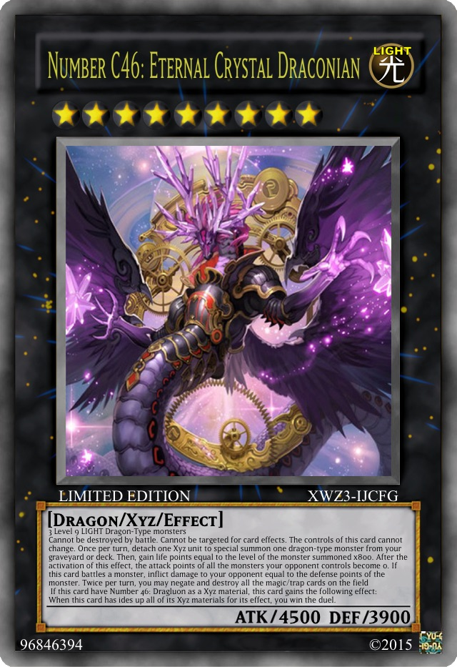 number c46 eternal crystal draconion yugioh card