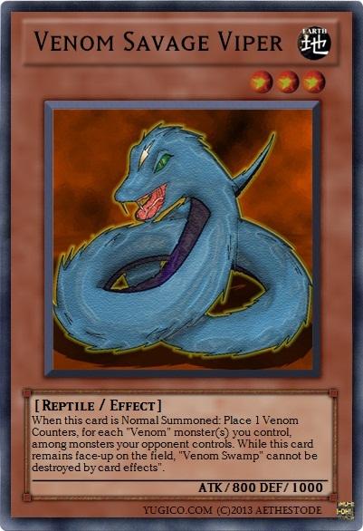 Venom Savage Viper | Yu-Gi-Oh Card Maker Wiki | FANDOM ...