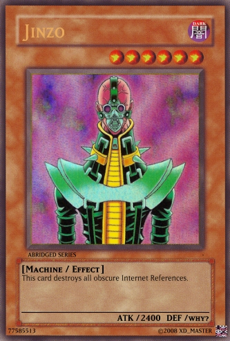 image jinzo abridged jpg yu gi oh card maker wiki fandom