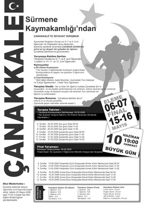 Canakkale yarismasi poster