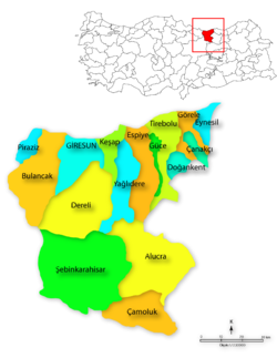 Giresun districts