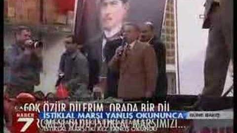 Kanla 7 İstiklal Marşı rezalati
