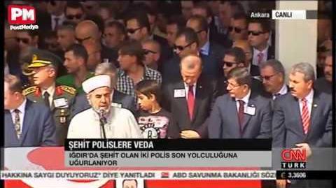 Erdoğan şehidin cenaze namazında selamı unuttu! Davutoğlu şoke oldu!