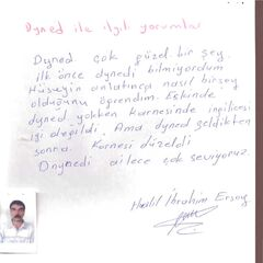 Halil İbrahim Ersoy Öğrenci Velisi