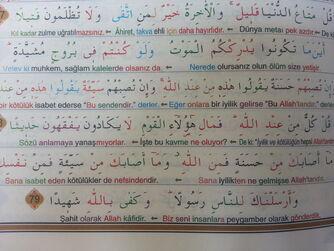 Nisa 77 78 ayetler kelime meali rayiha kelime mealli kuran