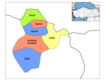 Ardahan districts