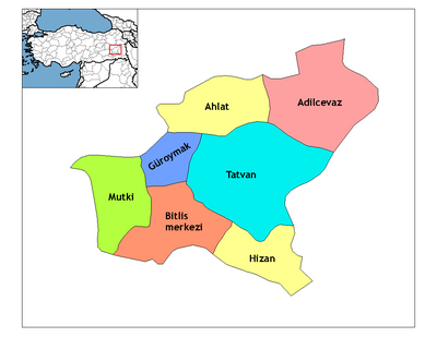 Bitlis districts