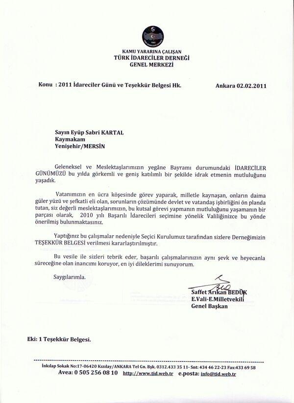 02.02.2011 TİD teşekkür belgesi yazısı1