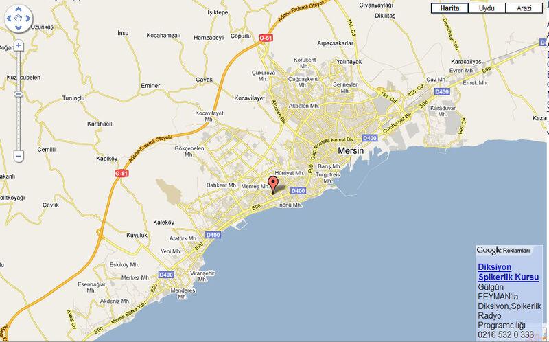 Güvenevler mahallesi haritası