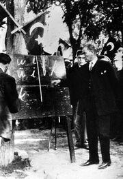 Ataturk-September 20, 1928