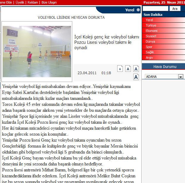 İçel ekspres gazetesi 25 04 2011