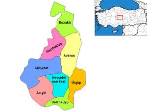 Nevşehir districts