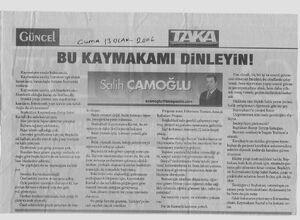 Eyup Sabri Kartal -Taka Gazetesi - Bu Kaymakamı Dinleyin Salih Çamoğlu 300dpi 001