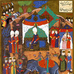 Ottoman miniature depicting the execution of Serbian rebels in Belgrade by a War elephant.[1]