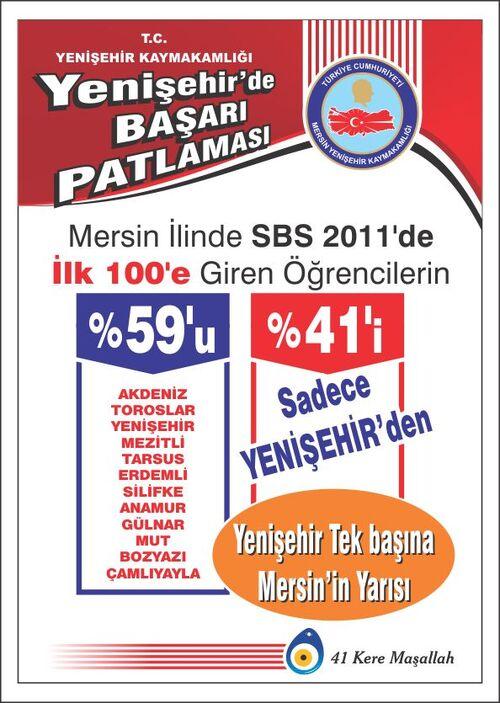 Yenişehir'de sbs afiş çalışması