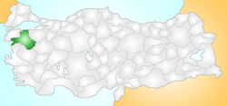 Balıkesir Turkey Provinces locator