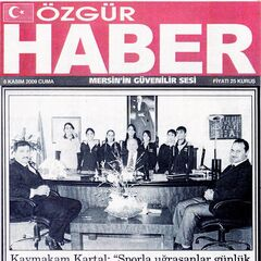 6 Kasım 2009 Özgür Haber Gazetesi Haberi.Şampiyonlardan Kaymakam Kartal'a Ziyaret.