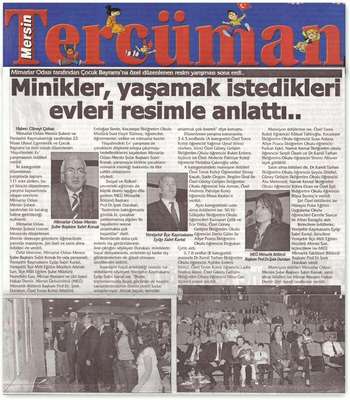 26 Nisan 2010 Mersin tercüman gazetesi...