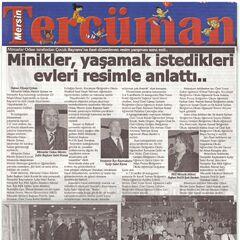 Mersin Tercüman gazetesi haberi