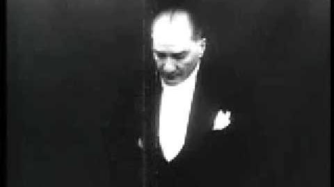 Atatürk'ün Meclis Konusmasi Kendi Sesi ve Görüntüsü ile