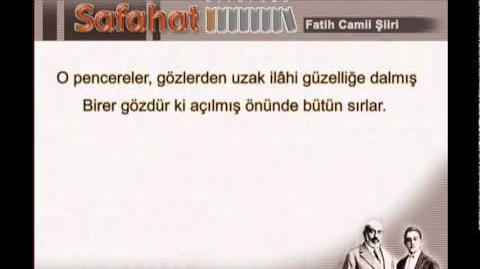Fatih camii şiiri - mehmet akif ersoy - safahat