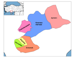 Karaman districts