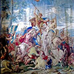 War elephants during Battle of Gaugamela