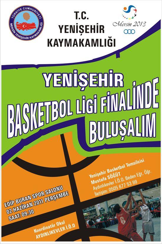 Basketbol afişi.