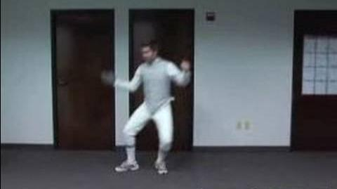 How to Fence How to do the Balestra & Quartata in Advanced Fencing Footwork