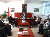Ortodoks Kilisesi Papazı, Latin İtalyan Katolik Kilisesi papazı ve Forum AVM Müdürü , Kaymakam Kartal'ı makamında ziyaret ettiler.