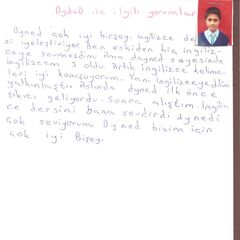 Hüseyin Ersoy 8A Sınıfı Öğrencisi