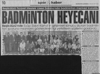 Beşikdüzü badminton heyecanı