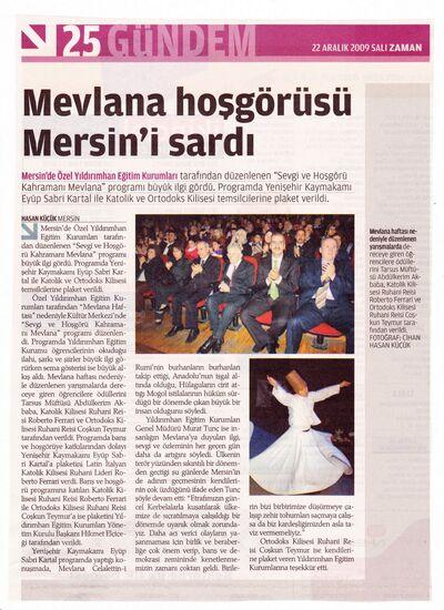 Zaman Gazetesi 22.12.2009 salı