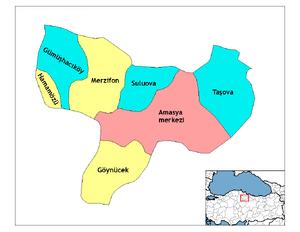 Amasya districts