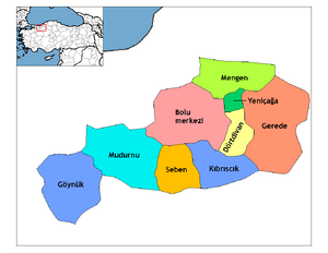 Bolu districts