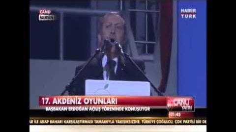 Başbakan Akdenize white sea dedi - Akdeniz Olimpiyatları