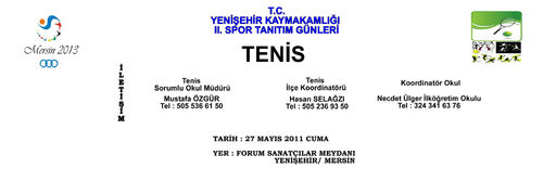 Afiş tasarımı tenis