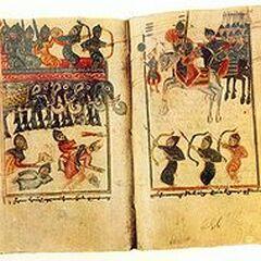 A medieval Armenian miniature representing the Sassanid Persians War elephants in the Battle of Vartanantz