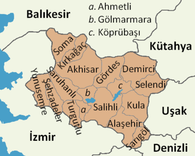 Manisa location districts