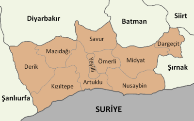 Mardin location districts
