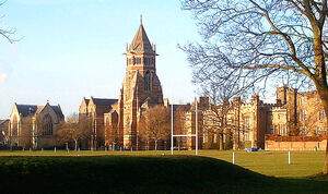 The playing fields of Rugby School, where according to legend the game of rugby football was invented