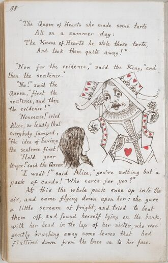 Alice's Adventures Under Ground - Lewis Carroll - British Library Add MS 46700 f45v
