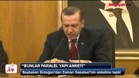 Başbakan Recep Tayyip Erdoğan Zaman Gazetesi muhabirine sert cevap