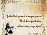 Mehmet Akif Ersoy/Sözleri