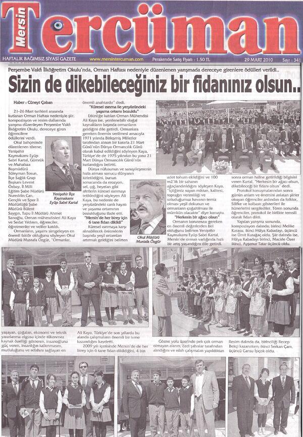 Mersin tercüman gazetesi 30 mart 2010...